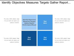 Identify Objectives Measures And Targets Gather And Report Performance Result