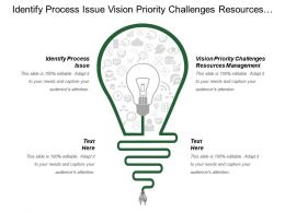 Identify Process Issue Vision Priority Challenges Resources Management