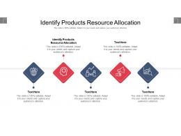 Identify Products Resource Allocation Ppt Powerpoint Presentation Infographics Picture Cpb