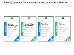 Identify Question Type Create Unique Question Id Reduce Assets