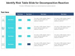Identify Risk Table Slide For Decomposition Reaction Infographic Template