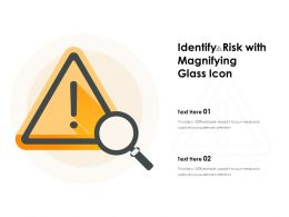 Identify Risk With Magnifying Glass Icon
