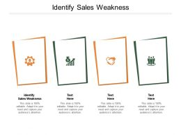 Identify Sales Weakness Ppt Powerpoint Presentation Styles Introduction Cpb