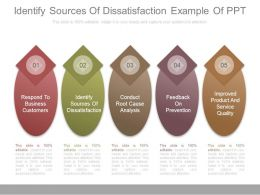 Identify Sources Of Dissatisfaction Example Of Ppt
