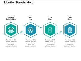 Identify Stakeholders Ppt Powerpoint Presentation Inspiration Graphics Template Cpb