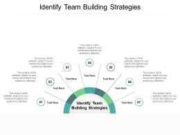 Identify Team Building Strategies Ppt Powerpoint Presentation File Design Templates Cpb