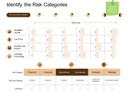 Identify The Risk Categories Ppt Powerpoint Presentation File Pictures