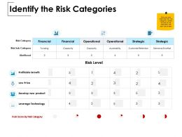 Identify The Risk Categories Profitable Growth Operational Ppt Powerpoint Presentation Shapes