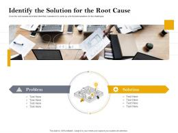 Identify The Solution For The Root Cause Customer Retention And Engagement Planning Ppt Topics