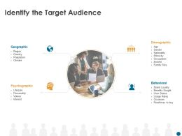 Identify The Target Audience Behavioral M502 Ppt Powerpoint Presentation Infographic Template Summary