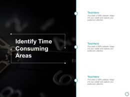 Identify Time Consuming Areas Ppt Powerpoint Presentation Gallery Guidelines