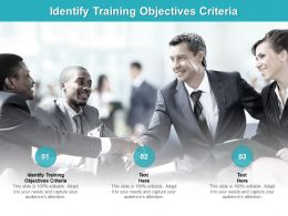 Identify Training Objectives Criteria Ppt Powerpoint Presentation Layouts Templates Cpb