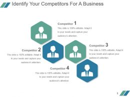 Identify Your Competitors For A Business Powerpoint Slide Backgrounds