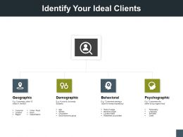 Identify Your Ideal Clients Geographical A178 Ppt Powerpoint Presentation Model Gallery