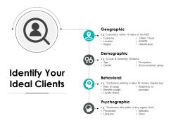 Identify Your Ideal Clients Psychographic Ppt Powerpoint Presentation File Tips