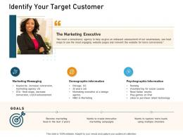 Identify Your Target Customer Ppt Powerpoint Presentation Show Graphics Template