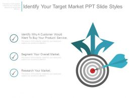 Identify Your Target Market Ppt Slide Styles