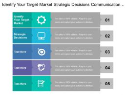 Identify Your Target Market Strategic Decisions Communication Offer