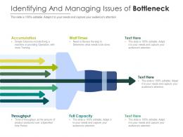 Identifying And Managing Issues Of Bottleneck