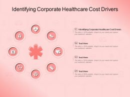 Identifying Corporate Healthcare Cost Drivers Ppt Powerpoint Presentation Layouts Skills