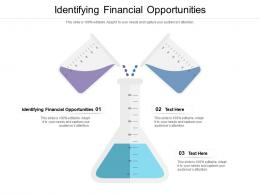 Identifying Financial Opportunities Ppt Powerpoint Presentation Professional Example Cpb