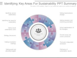 Identifying Key Areas For Sustainability Ppt Summary