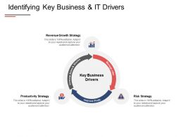 Identifying Key Business And It Drivers Growth Strategy Ppt Powerpoint Presentation Show Ideas