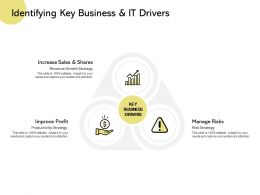 Identifying Key Business And It Drivers Improve Profit Manage Risks Ppt Powerpoint Presentation Model Icon