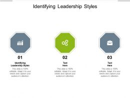 Identifying Leadership Styles Ppt Powerpoint Presentation Professional Cpb