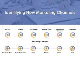 Identifying New Marketing Channels Ppt Powerpoint Presentation Ideas