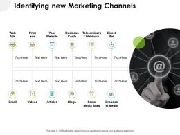 Identifying New Marketing Channels Ppt Powerpoint Show Outfit