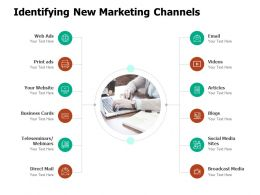 Identifying New Marketing Channels Social Media Ppt Powerpoint Presentation Pictures
