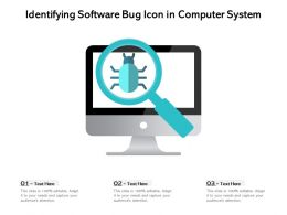 Identifying Software Bug Icon In Computer System