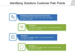 Identifying Solutions Customer Pain Points Ppt Powerpoint Presentation Inspiration Graphic Tips Cpb