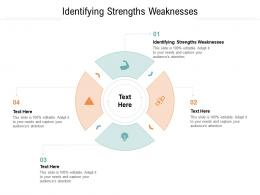 Identifying Strengths Weaknesses Ppt Powerpoint Presentation Diagrams Cpb