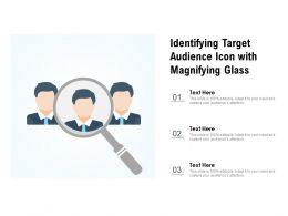 Identifying Target Audience Icon With Magnifying Glass