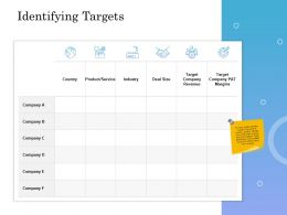 Identifying Targets Ppt Powerpoint Presentation Infographic Shapes