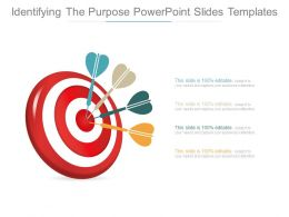 Identifying The Purpose Powerpoint Slides Templates