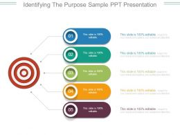 Identifying The Purpose Sample Ppt Presentation