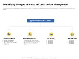 Identifying The Type Of Waste In Construction Management Tiles And Ceramics Ppt Slides