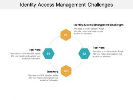 Identity Access Management Challenges Ppt Powerpoint Presentation File Styles Cpb