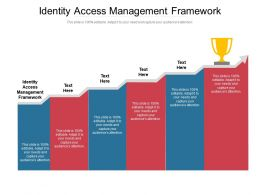 Identity Access Management Framework Ppt Powerpoint Presentation Styles Master Cpb