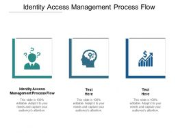 Identity Access Management Process Flow Ppt Powerpoint Presentation Gallery Ideas Cpb