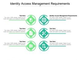 Identity Access Management Requirements Ppt Powerpoint Presentation Pictures Tips Cpb
