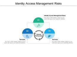 Identity Access Management Risks Ppt Powerpoint Presentation Professional Examples Cpb
