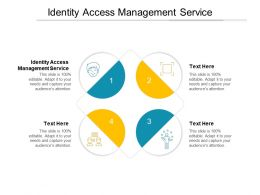 Identity Access Management Service Ppt Powerpoint Presentation Outline Format Ideas Cpb