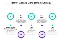 Identity Access Management Strategy Ppt Powerpoint Presentation Model Smartart Cpb
