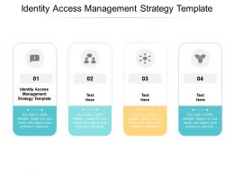 Identity Access Management Strategy Template Ppt Powerpoint Presentation Summary Guidelines Cpb