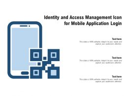 Identity And Access Management Icon For Mobile Application Login