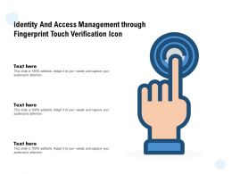 Identity And Access Management Through Fingerprint Touch Verification Icon